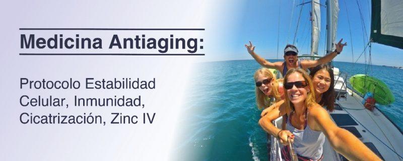 Protocolo estabilidad Celular, inmunidad, cicatrización. Zinc IV Clínico Antiaging